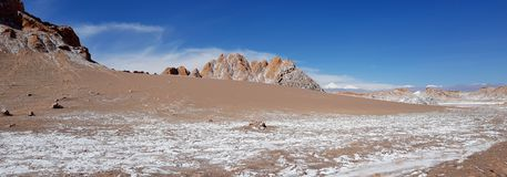 Valle de Λα Luna Valley του φεγγαριού στην έρημο Atacama, Χιλή στοκ εικόνα με δικαίωμα ελεύθερης χρήσης