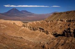 Valle de Λα Muerte κοιλάδα θανάτου, SAN Pedro de Atacama, Χιλή Στοκ Φωτογραφία