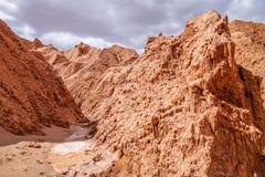 Valle de Λα muerte σε SAN Pedro de Atacama, Χιλή στοκ εικόνα με δικαίωμα ελεύθερης χρήσης