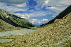Valle de Akkem en el día de verano Fotos de archivo