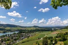Valle de Alto Rhin imagenes de archivo