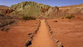 Valle de Arcoiris, San Pedro de Atacama, o Chile imagem de stock