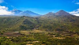 Valle de Arriba με το υποστήριγμα Teide σε μια απόσταση Στοκ εικόνες με δικαίωμα ελεύθερης χρήσης