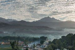 Valle de Bamyan, Sunrice fotografía de archivo