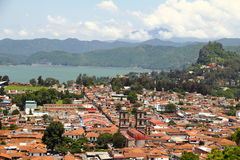 Valle de bravo II. Aerial view of the city of valle de bravo, estado de mexico, mexico Royalty Free Stock Images