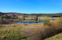 Valle de Cluanie del lago, Escocia, Reino Unido Fotos de archivo