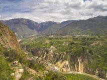 Valle de Colca, Arequipa, Perú. foto de archivo