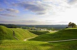 Valle de colinas Imágenes de archivo libres de regalías