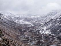 Valle de Dingboche Foto de archivo libre de regalías