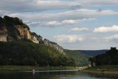 Valle de Elbe Imagen de archivo libre de regalías