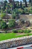 Valle de Gehenna (Hinnom) cerca de la ciudad vieja de Jerusalén Imagen de archivo libre de regalías