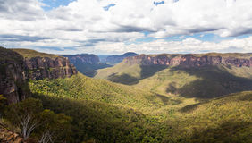 Valle de Grose en las montañas azules Australia Fotografía de archivo