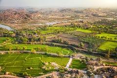 Valle de Hampi en la India fotos de archivo