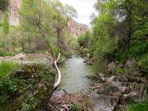 Valle de Ihlara, río de Melendiz, Cappadocia, Turquía imagen de archivo libre de regalías