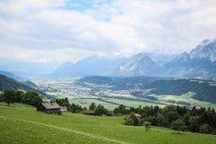 Valle de Inntal Fotografía de archivo libre de regalías