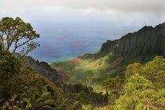 Valle de Kalalau Fotos de archivo