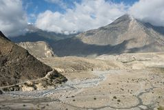 Valle de Kali Gandaki Imagen de archivo libre de regalías