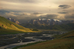 Valle de Kok-Kyia Foto de archivo