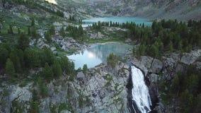 Valle de Kuiguk Montañas de Altai Paisaje de la visión aérea almacen de video