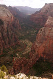 Valle de la barranca de Zion Imagen de archivo
