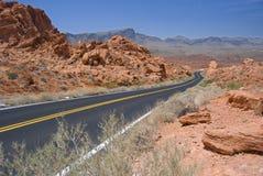 Valle de la carretera del fuego Imagenes de archivo