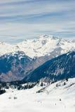 Valle de la estación de esquí Foto de archivo libre de regalías
