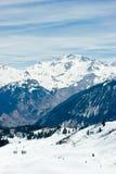 Valle de la estación de esquí Fotos de archivo libres de regalías