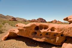 Valle de la formación de roca del fuego Foto de archivo libre de regalías