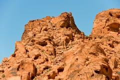 Valle de la formación de roca del fuego Imagen de archivo