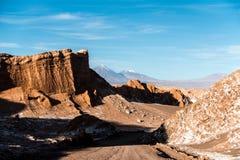 Valle de la luna, Atacama, Chile foto de archivo libre de regalías
