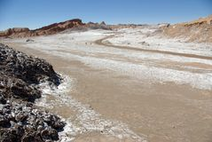 Valle de la Luna - Atacama Desert Royalty Free Stock Photo
