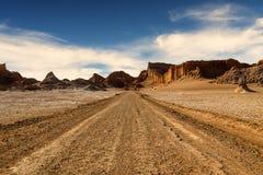 Valle de La Luna in the Atacama Desert. The Valle de la Luna in the Atacama Desert, Chile, 2013 Royalty Free Stock Photo