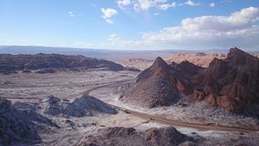 Valle de la Luna, Atacama Desert, Chile. The Moon Valley, Valle de la Luna in the Atacama Desert in northern Chile stock photos