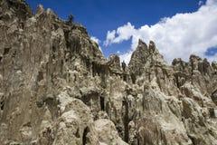 Valle-De-La Luna in Bolivien Stockfotografie