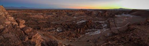 Valle de la Luna, Cordillera de la Sal, Atacama öken, Chile Royaltyfria Foton