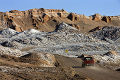 Valle de la luna - desierto de Atacama - Chile Fotografía de archivo libre de regalías