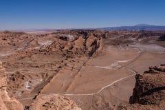 Valle de la luna en San Pedro de Atacama en el desierto de Atacama en Chile fotos de archivo