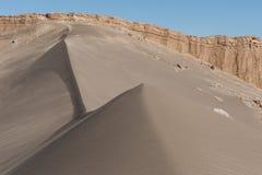 Valle de la Luna Moon Valley i den Atacama öknen nära San Pedro de Atacama, Antofagasta - Chile royaltyfria bilder