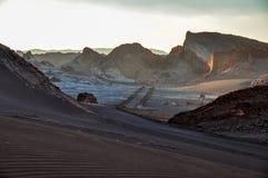 Valle de la Luna near San Pedro de Atacama, Chile Royalty Free Stock Image