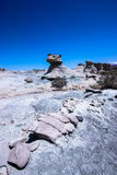 Valle De La Luna. Rock formations at the Moon Valley in Ischigualasto national park, San Juan, Argentina Royalty Free Stock Photography