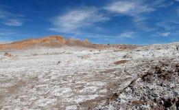 Valle-De-La Luna-Salz flach Stockbild