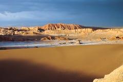 Valle De La Luna Sand Dune. Thunderstorm developing over sand dune in Valle De La Luna in the Atacama Desert near San Pedro de Atacama, Chile. The Atacama Desert Stock Photography