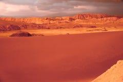 Valle De La Luna Sand Dune Stock Photo