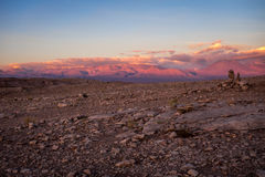 Valle de la Luna at sunset in San Pedro de Atacama, Chile Stock Images