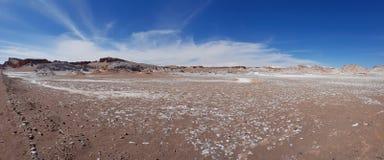 Valle de la Luna Valley av m?nen i den Atacama ?knen, Chile arkivfoton