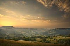 Valle de la montaña Imagenes de archivo