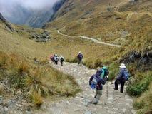 Valle de la montaña de Cuzco del rastro del inca Imagen de archivo