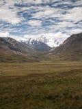 Valle de la montaña de la nieve Fotografía de archivo