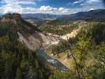 Valle de la montaña rocosa Imagen de archivo