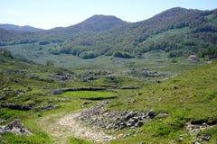 Valle de la montaña Foto de archivo libre de regalías